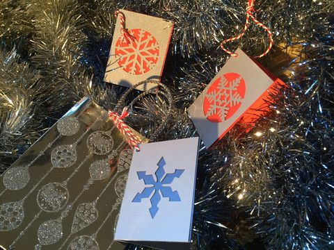 Snow Flake Christmas Gift Card Pack *with flair* – Swank Creations