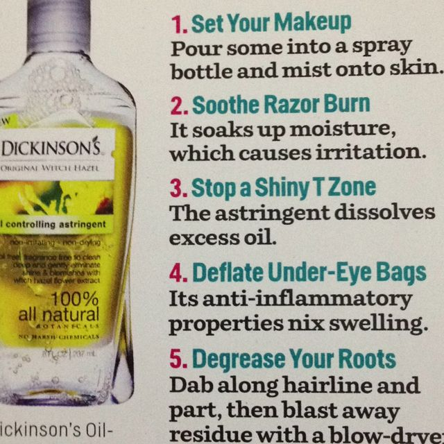 Witch Hazel is your best friend!! Uses: Spot & blemish control, shrinks bags under the eyes, reduces pain & swelling from varicose veins, heals bruises faster, soothes razor burn and also helps to shrink your pores !! http://www.amazon.com/dp/B000GCQ04C/ref=cm_sw_r_pi_dp_A5cqtb178NASY99M