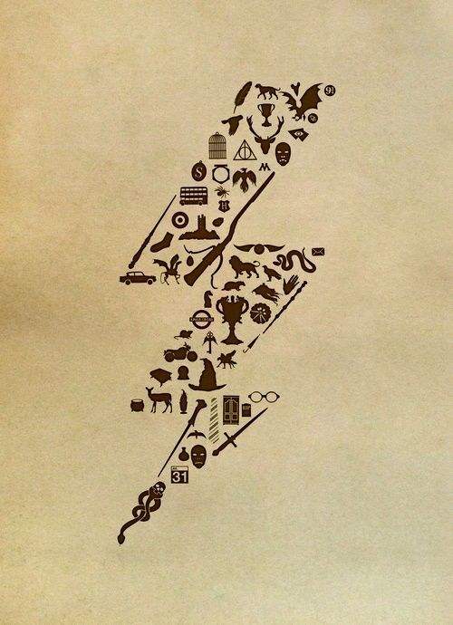 Harry Potter lightning scar Tattoo Desing - Geeky. I have a similar idea. Want to do little symbols from all my favorite books, movies and just life in general.