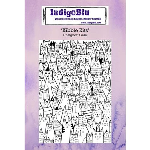 IndigoBlu Cling Stamp KIBBLE KITS Rubber IND0234 Preview Image