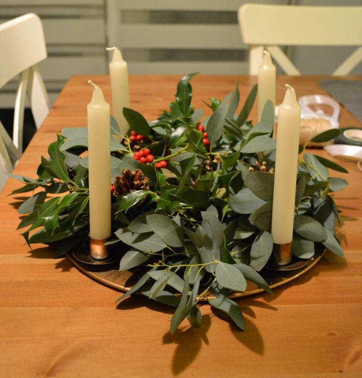 Greenery Advent Wreath