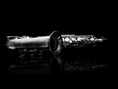Saxofón Alto en blanco y negro