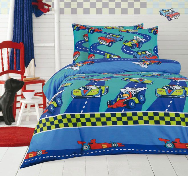Ardor For Kids Cars Quilt Cover Set Range Blue