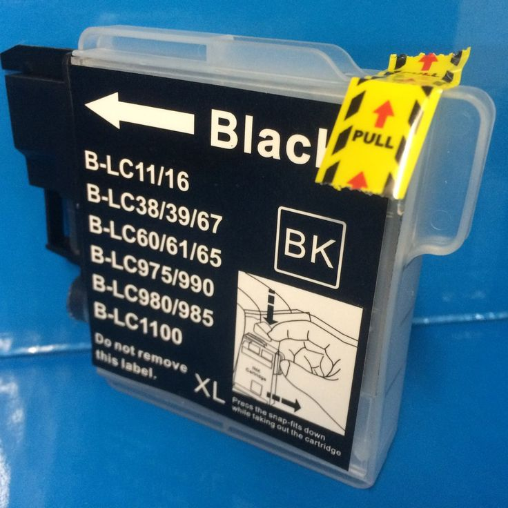 LC980 LC985 LC1100 4 X BLACK BROTHER INK CARTRIDGES Non OEM
