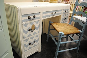 Chevron desk..this is how I want to reduce mine!!!