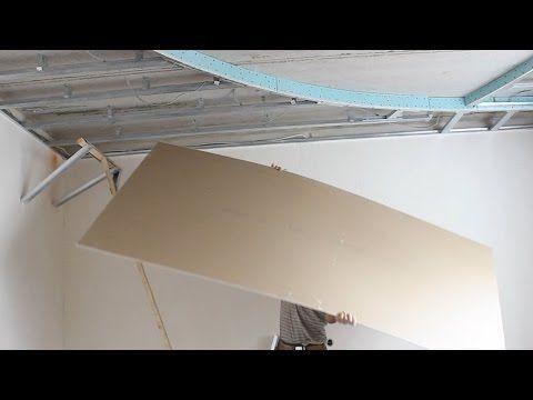 Как в одиночку поднять лист гирсокартона.САМЫЙ ДОСТУПНЫЙ монтаж гипсокартона на потолок - YouTube