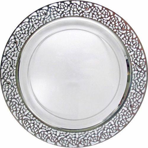 Elegant White Plastic 7   Salad Plate with Silver Trim - Posh Party Supplies  sc 1 st  Pinterest & 12 best Elegante wegwerpservies bekers en bestek images by ...