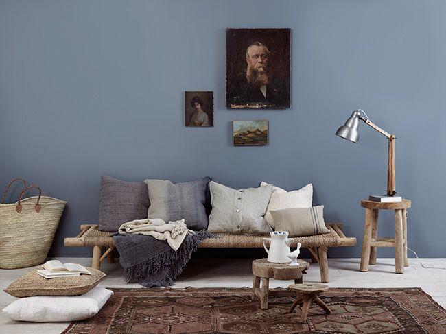 Kveldshimmel - Blå farger på veggene