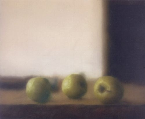gerhard richter(1932- ), apples, 1984. oil on canvas, 65 x 80 cm.