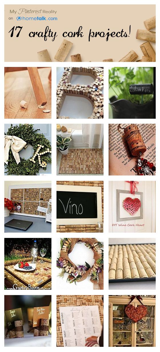 17 Crafty Cork Projects! How fun!