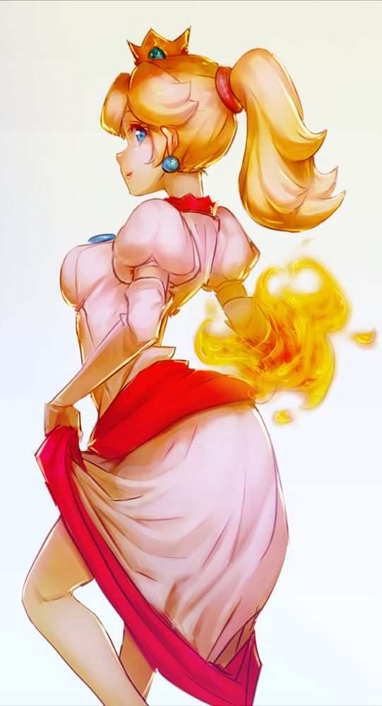 fire princess porn mario