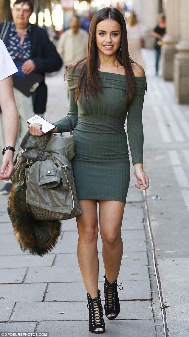 Singleton: Georgia's appearance on the Channel 4 show came shortly after it was claimed she was 'worried' about her ex-boyfriend being paired with Laura Whitmore on Strictly