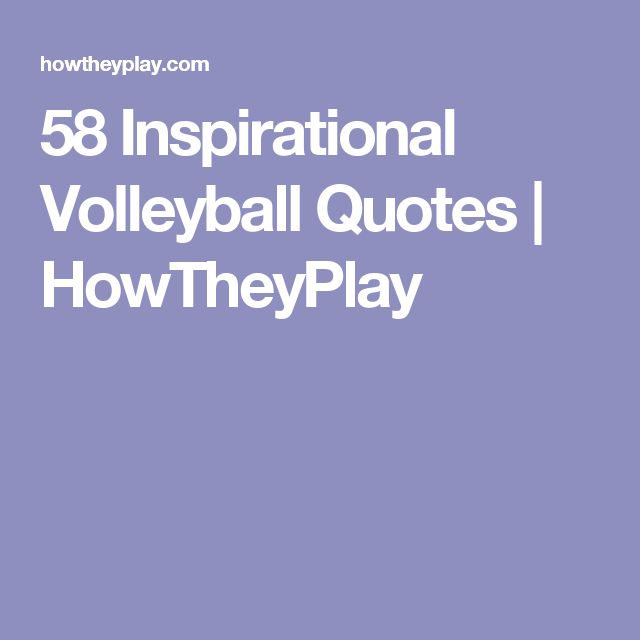 25 Best Motivational Quotes: 25+ Best Inspirational Volleyball Quotes On Pinterest