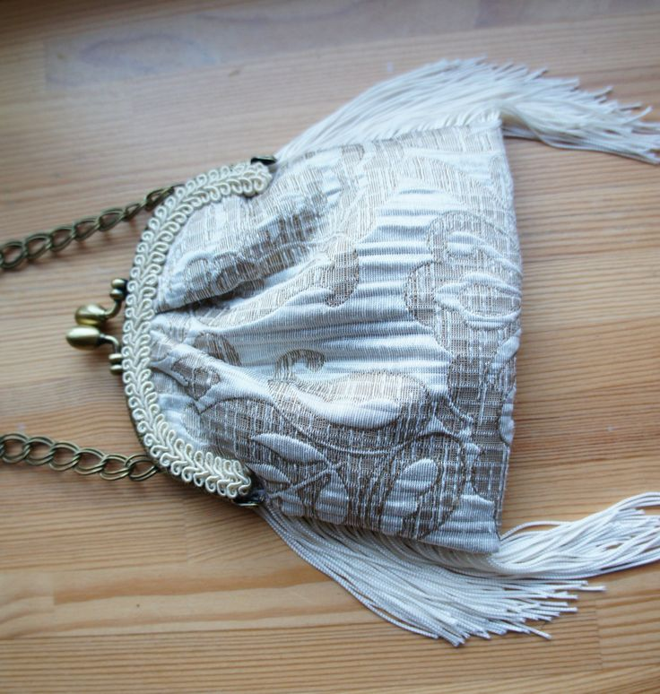 Vintage style,handbag,historical,weddings,bridal,Vintage style,clutch purse,purse bag,old style,beige purse,clasp bag,Art Nouveau,fringe bag by MarquiseArt on Etsy