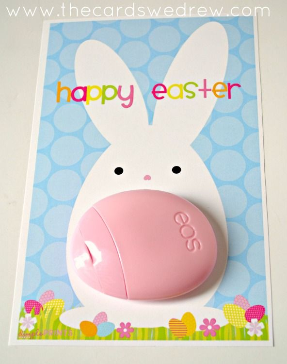 25 unique easter gift ideas on pinterest egg boxes easter need an easter gift ideas try this easter bunny eos lotion print from the cards we drew and dimpleprints negle Gallery