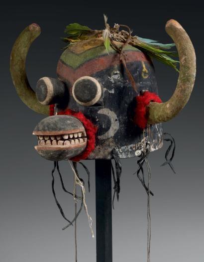 Masque de Kachina HO-O-TE ou AHOTE Hopi Arizona, USA Circa:1890-1900