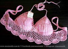 Menina Lili Croche: Top Cropped de Crochê Conchinhas