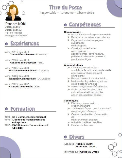 modele cv ressources humaines gratuit  u2026