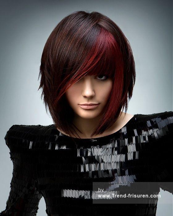 RUSH Mittel Braun weiblich Gerade Farbige Dicke Bob Multi-tonalen Frauen Haarschnitt Frisuren hairstyles