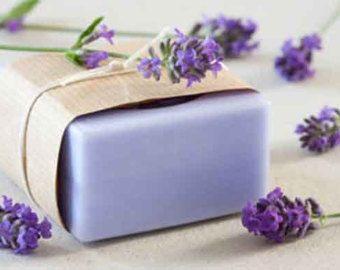 Homemade Vegan Lavender Soap