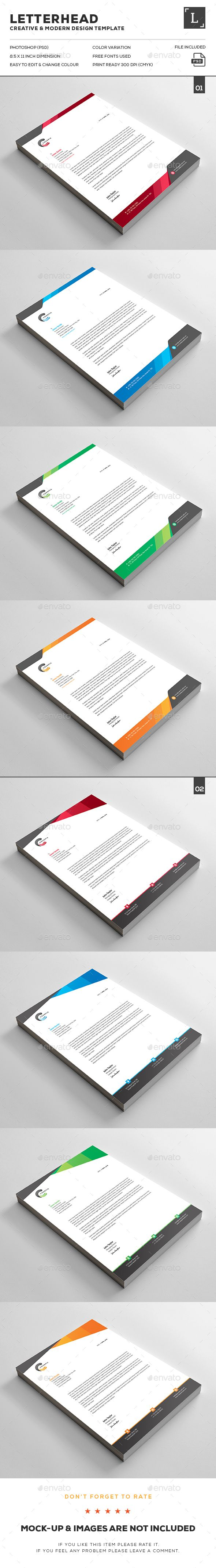 80 best letterheads print template images on pinterest print letterhead bundle letterhead template spiritdancerdesigns Choice Image