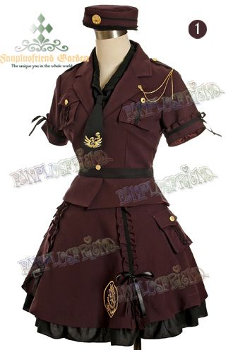 Cosplay Military Lolita Dress