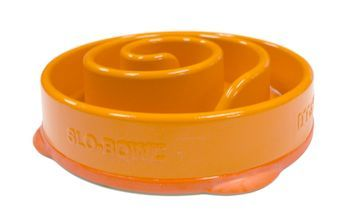 Koiran ruokakuppi Kyjen Slow Bowl Mini Coral, oranssi (14,95€)