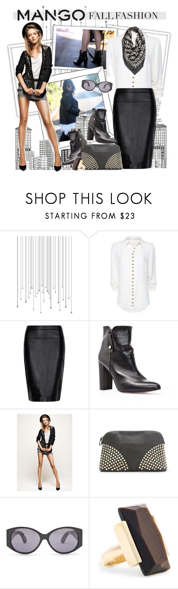 """""""Winter Aesthetic with Mango and That's Chic"""" by houseofhauteness ❤ liked on Polyvore featuring MANGO, skull scarf, mango and leather boots"""