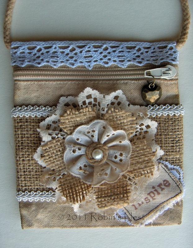 A Robin's Nest: Burlap Flower Bag