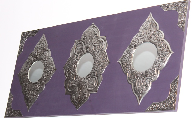 Pewter and mirror