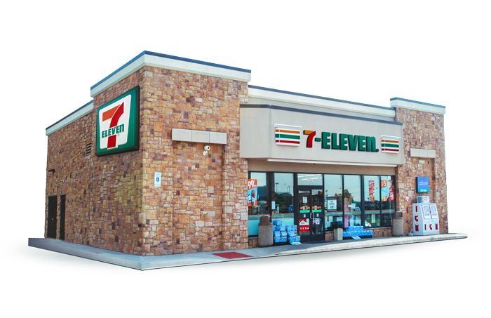 7eleven supermarket. convenience store, grocery store 3d