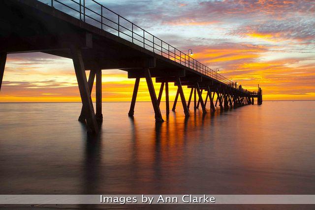 Sunset. Glenelg Jetty. Adelaide, South Australia.