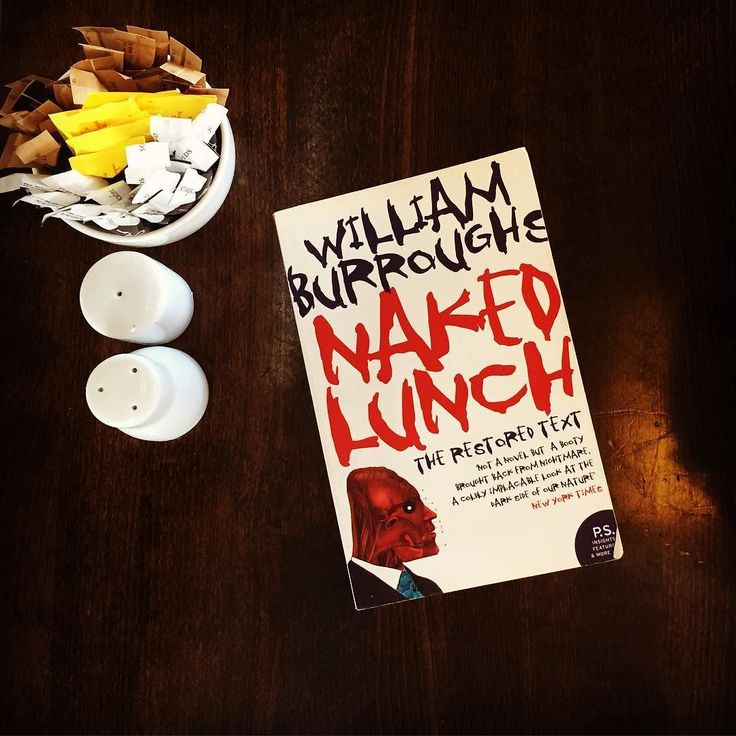 Today's #lunchbreakbook is aptly named 'Naked Lunch' by William S Burroughs. It's wonderfully written and as addictive as its subject matter. As good as'Junky' if not better. What are you reading this lunch time? by read_em_and_weep__