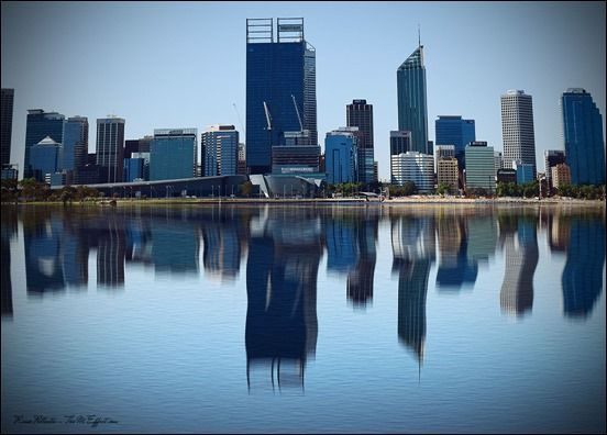 Perth reflection from South Perth  #photography #photo #Perth #Australia #landscape