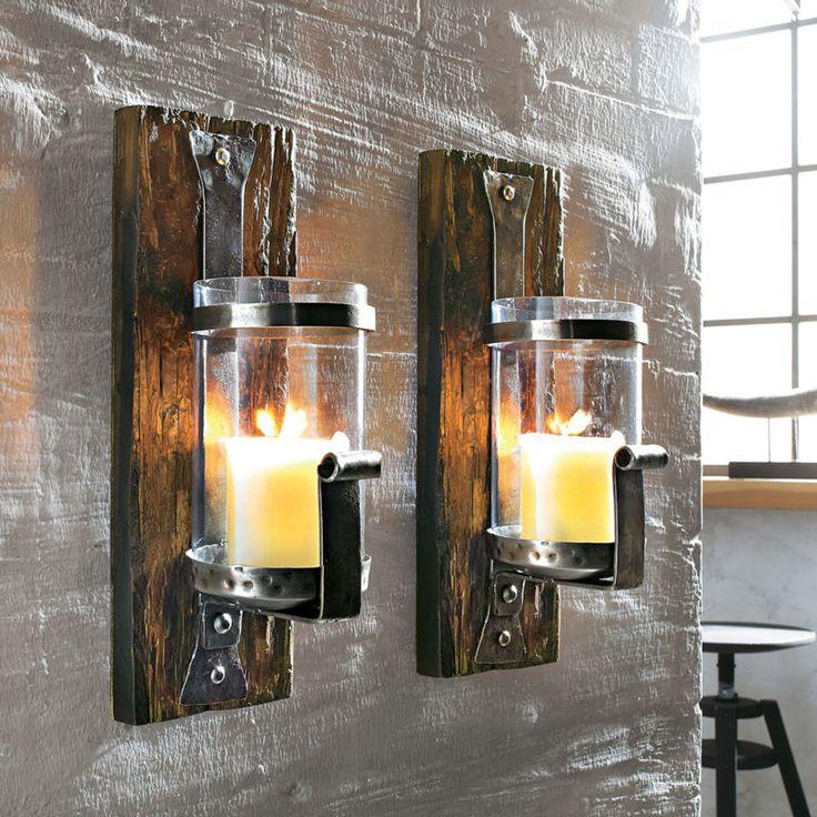 Wand-Kerzenhalter Set 2-tlg Kerzenhalter Teelichthalter Kerzenleuchter Deko NEU