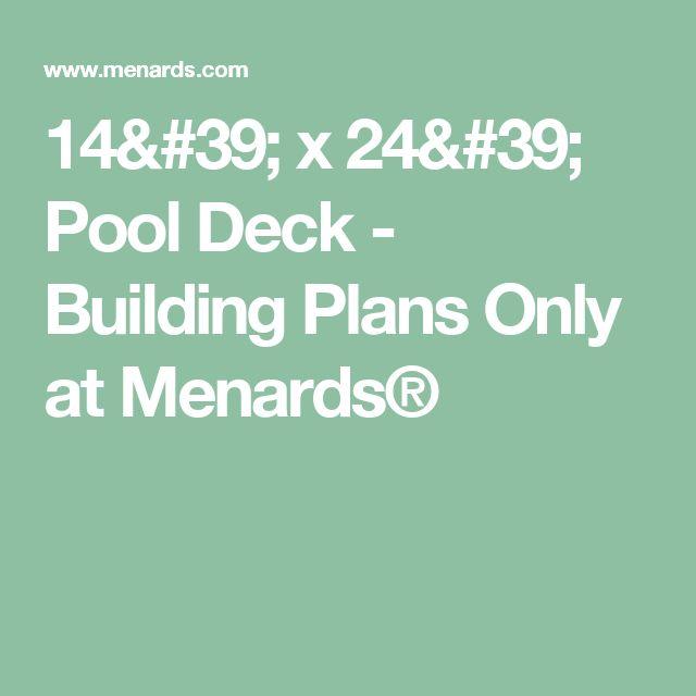 Best 14 X 24 Pool Deck Building Plans Only At Menards 400 x 300