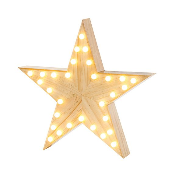 Nordic Wooden Star Marquee Light