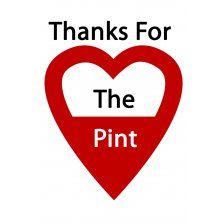 "Thanks for the pint  ""Thanks For The Pint"" is about thanking blood donors, as their hidden generosity saves lives daily. With just one pint of blood saving up to three lives, an hour of their time is transformed into a lifetime for a person in need. We hope to create awareness of blood donation and highlight thanks to those who have spent their time saving others."