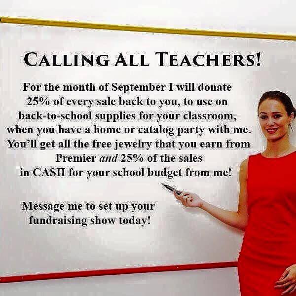 Teacher Classroom Fundraiser Premier Designs Jewelry stacinichols.mypremierdesigns.com                                                                                                                                                      More