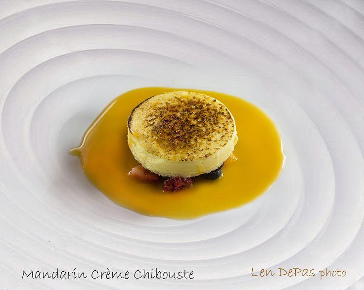 Mandarin Creme Chibouste by chef Gary O'Hanlon at the Willard hotel in DC