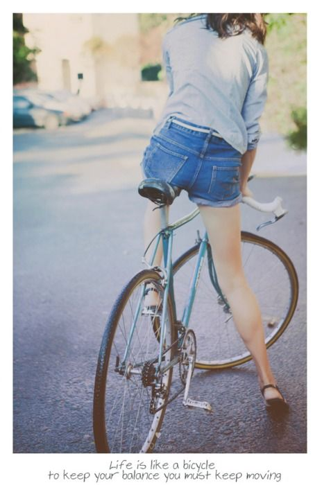 BikeBicycles Style, Keep Moving, The Simple Life, Bikes Riding, Denim Shorts, Riding A Bikes, Summer Shorts, Healthy Life, Bikes Style