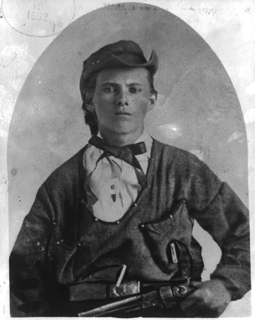You've almost certainly seen this image of Jesse James. It was taken in during a guerrilla raid on Platte City, Missouri, on 10 July 1864, when Jesse was only sixteen.