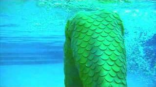 New Green Latex Mermaid Merman Tail Clips - YouTube
