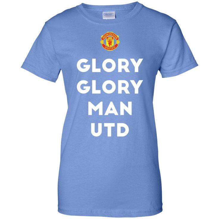 Glory Glory Man Utd Ladies Custom 100% Cotton T-Shirt