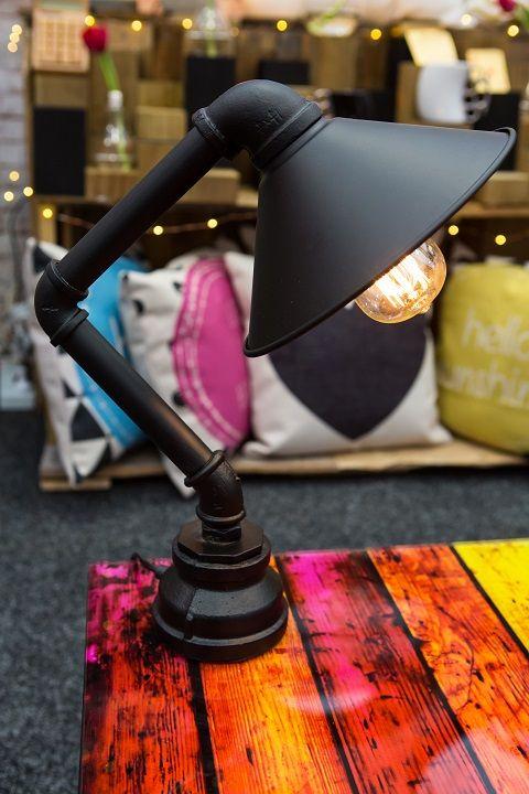 Stunning Desk Lamp - Iron Waterpipe. We call him 'Chester!'