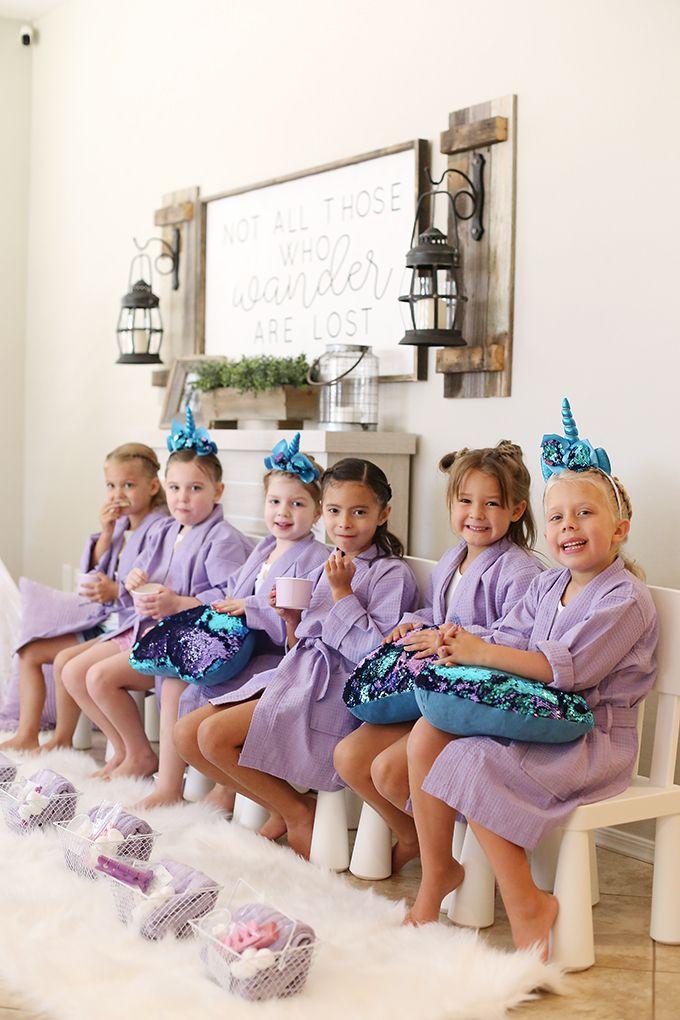 At Home Unicorn Spa Birthday Party Girl Spa Party Spa Birthday
