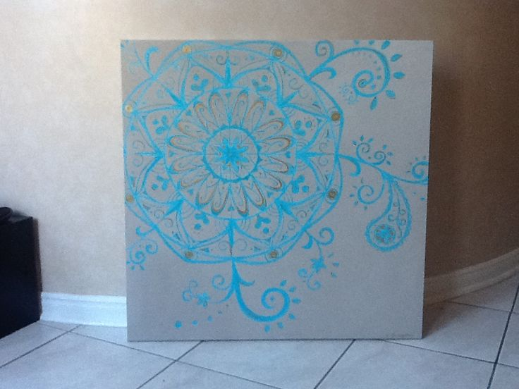 My mandala design, acrylics on canvas.