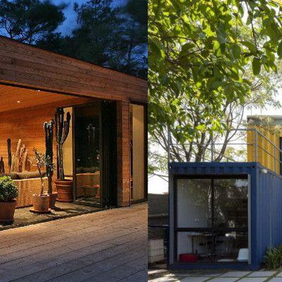 Casas pré-fabricadas: madeira ou container