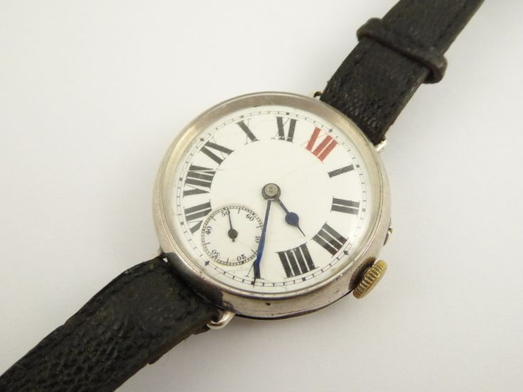WW1 1914 Sterling Silver Trench Style Wrist Watch London Silver Import Marks - The Collectors Bag