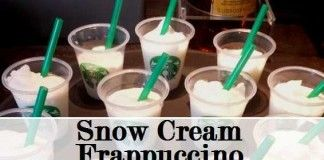 snow cream frappuccino